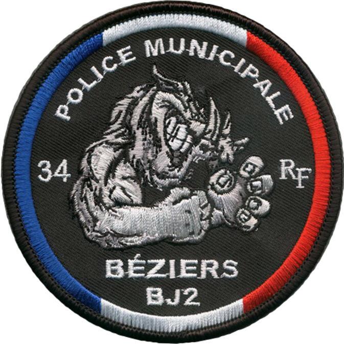 ÉCUSSON POLICE MUNICIPALE BÉZIERS BJ2