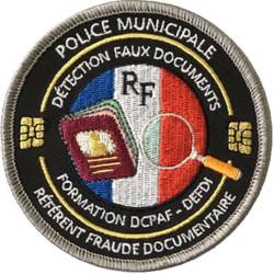 ÉCUSSON POLICE MUNICIPALE DCPAF DEFDI