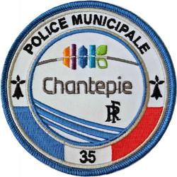ÉCUSSON POLICE MUNICIPALE CHANTEPIE