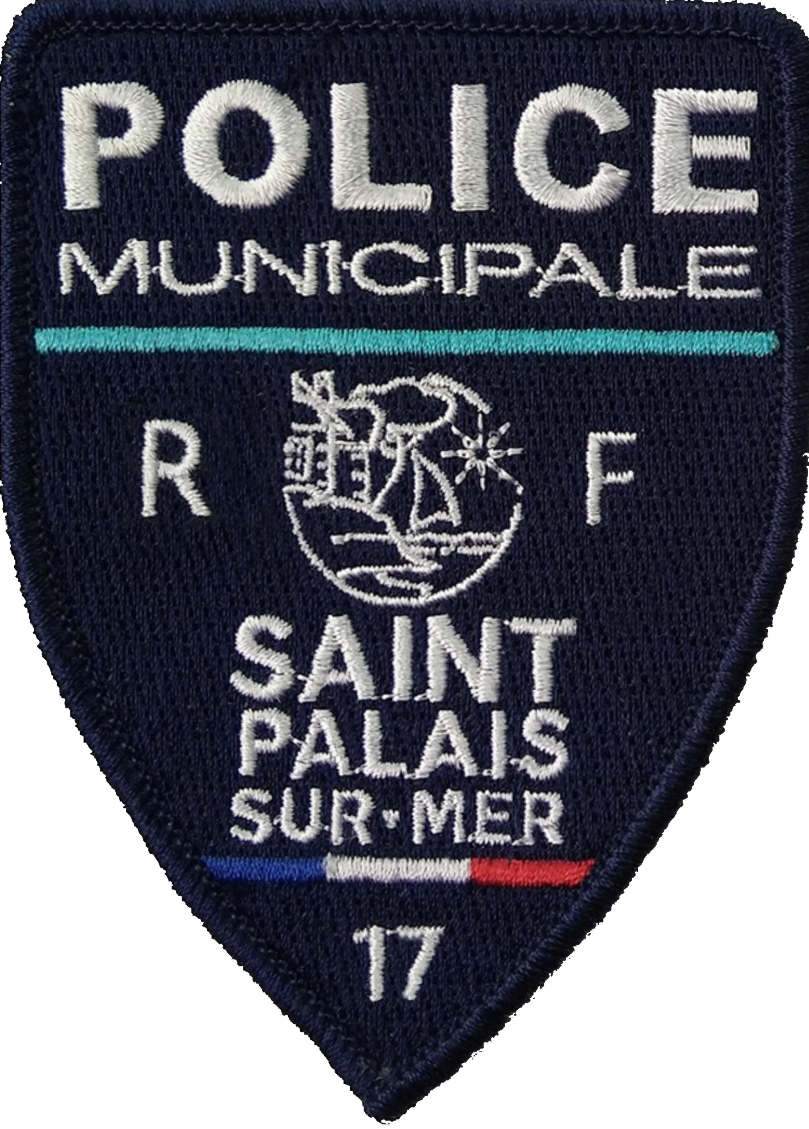 ÉCUSSON POLICE MUNICIPALE SAINT-PALAIS-SUR-MER