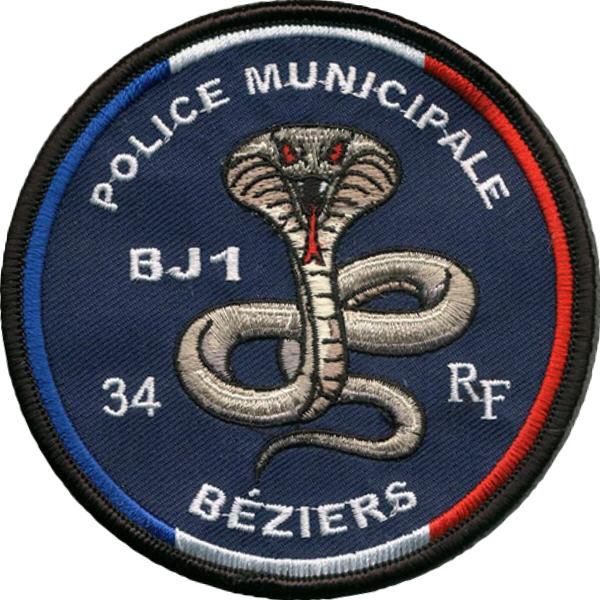 ÉCUSSON POLICE MUNICIPALE BÉZIERS BJ1