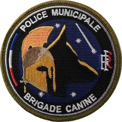 ÉCUSSON POLICE MUNICIPALE BRIGADE CANINE