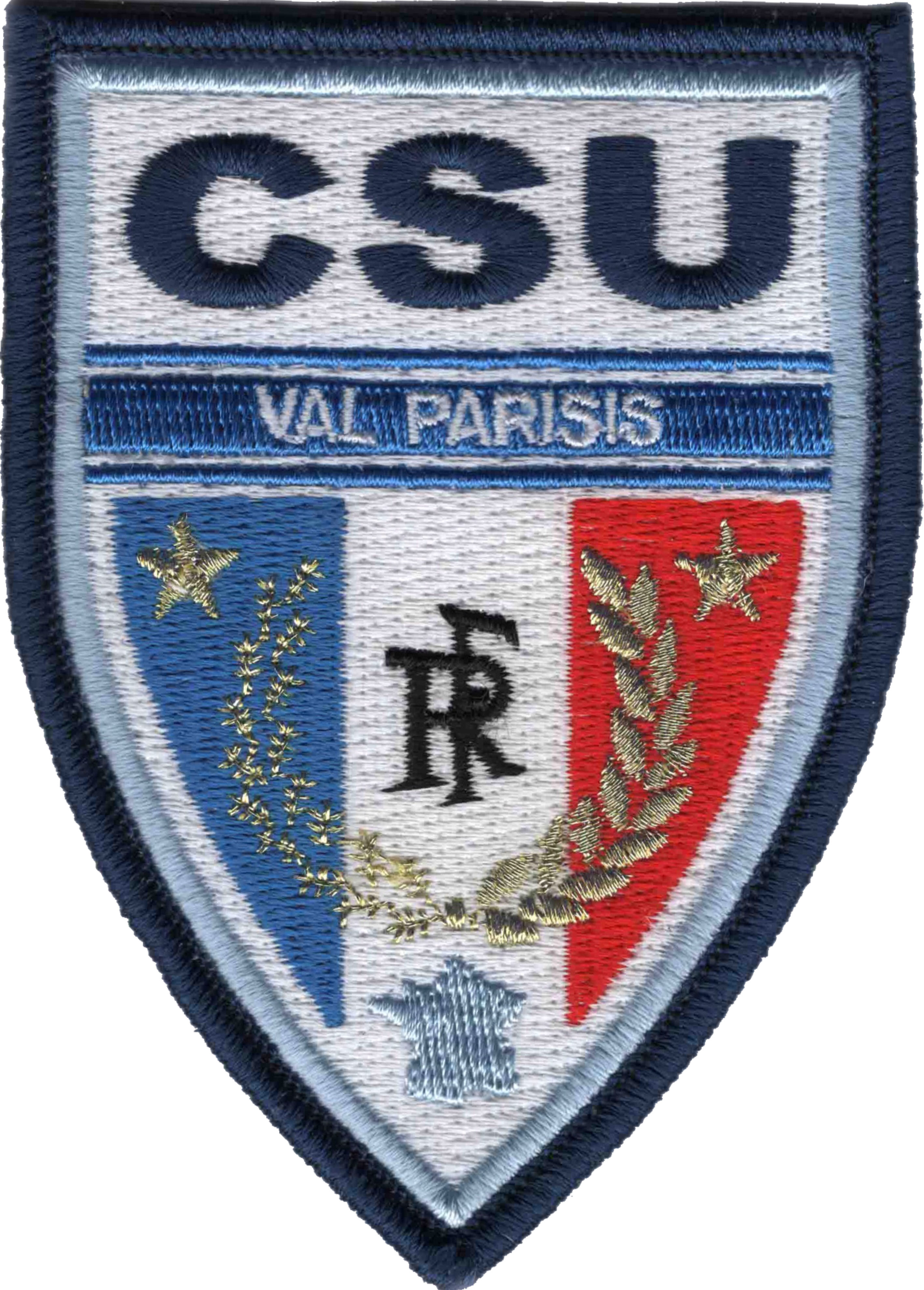 ÉCUSSON POLICE MUNICIPALE INTERCOMMUNALE VAL PARISIS CSU