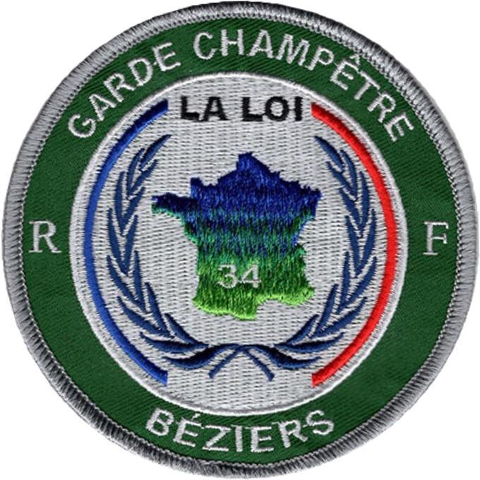 ÉCUSSON GARDE CHAMPÊTRE BÉZIERS
