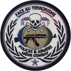 ÉCUSSON FACE AU TERRORISME POLICES & ARMÉES