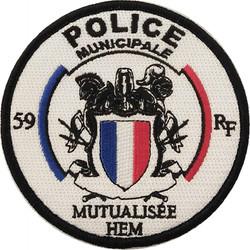 ÉCUSSON POLICE MUNICIPALE MUTUALISÉE HEM
