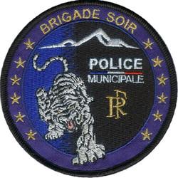 ÉCUSSON POLICE MUNICIPALE BRIGADE SOIR