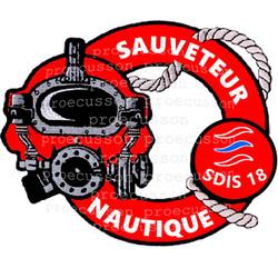 SAPEURS POMPIERS SDIS 18 SAUVETEUR NAUTIQUE