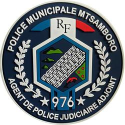 ÉCUSSON POLICE MUNICIPALE MTSAMBORO MAYOTTE