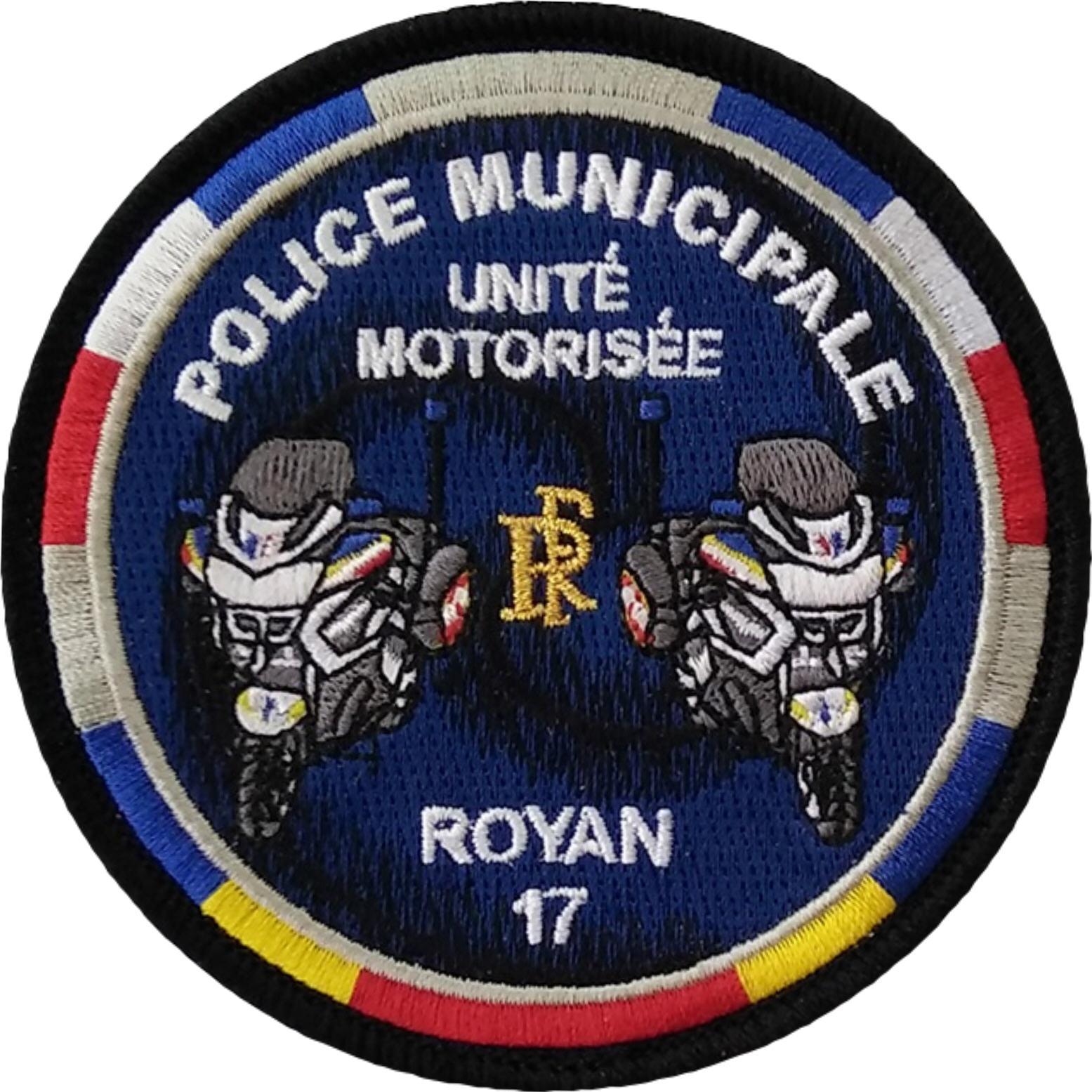 ÉCUSSON POLICE MUNICIPALE ROYAN UNITÉ MOTORISÉE