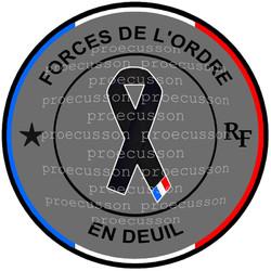 FORCES DE L'ORDRE EN DEUIL