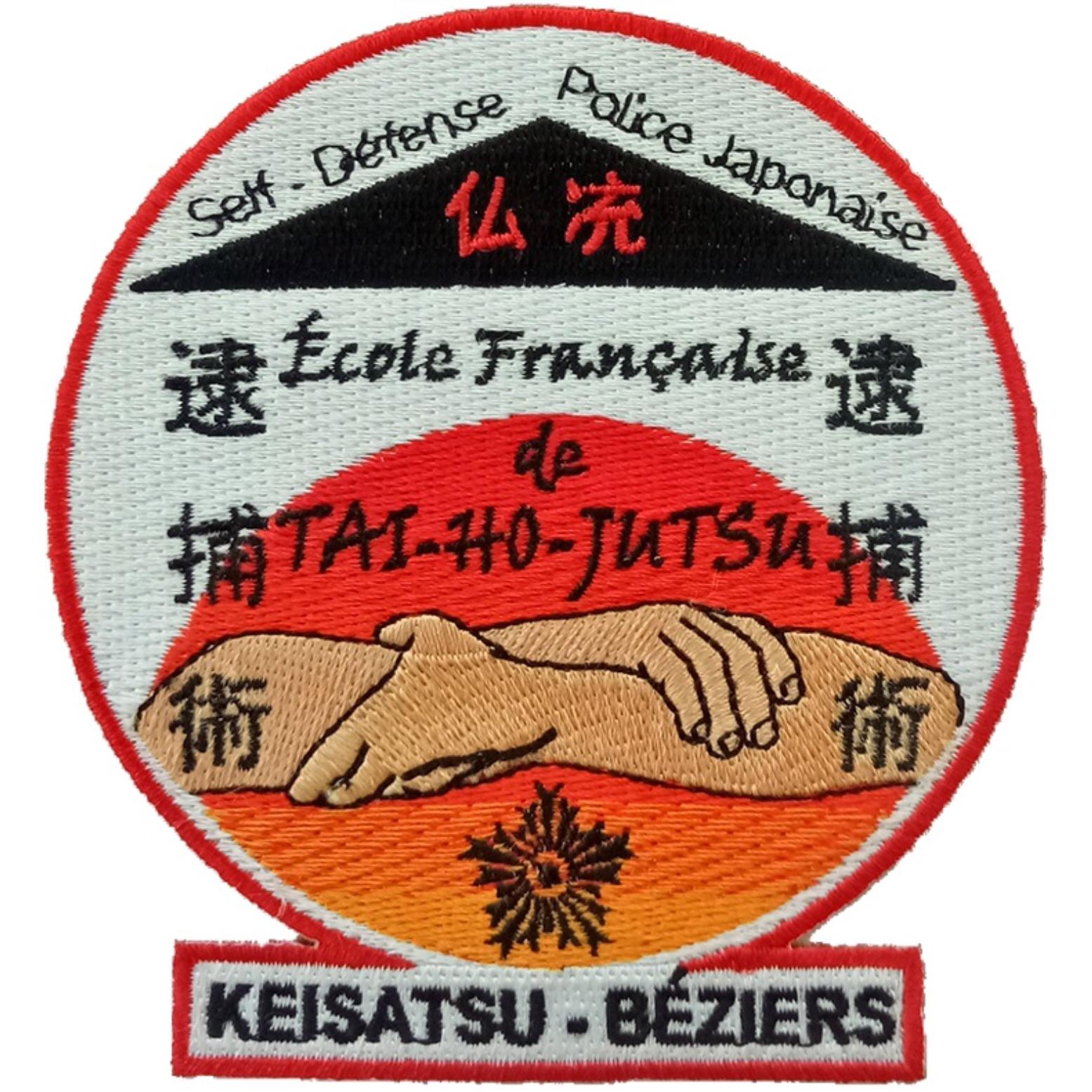 ÉCUSSON ÉCOLE FRANÇAISE DE TAI-HO-JUTSU KEISATSU BÉZIERS