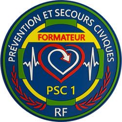 ÉCUSSON PRÉVENTION ET SECOURS CIVIQUES FORMATEUR PSC1