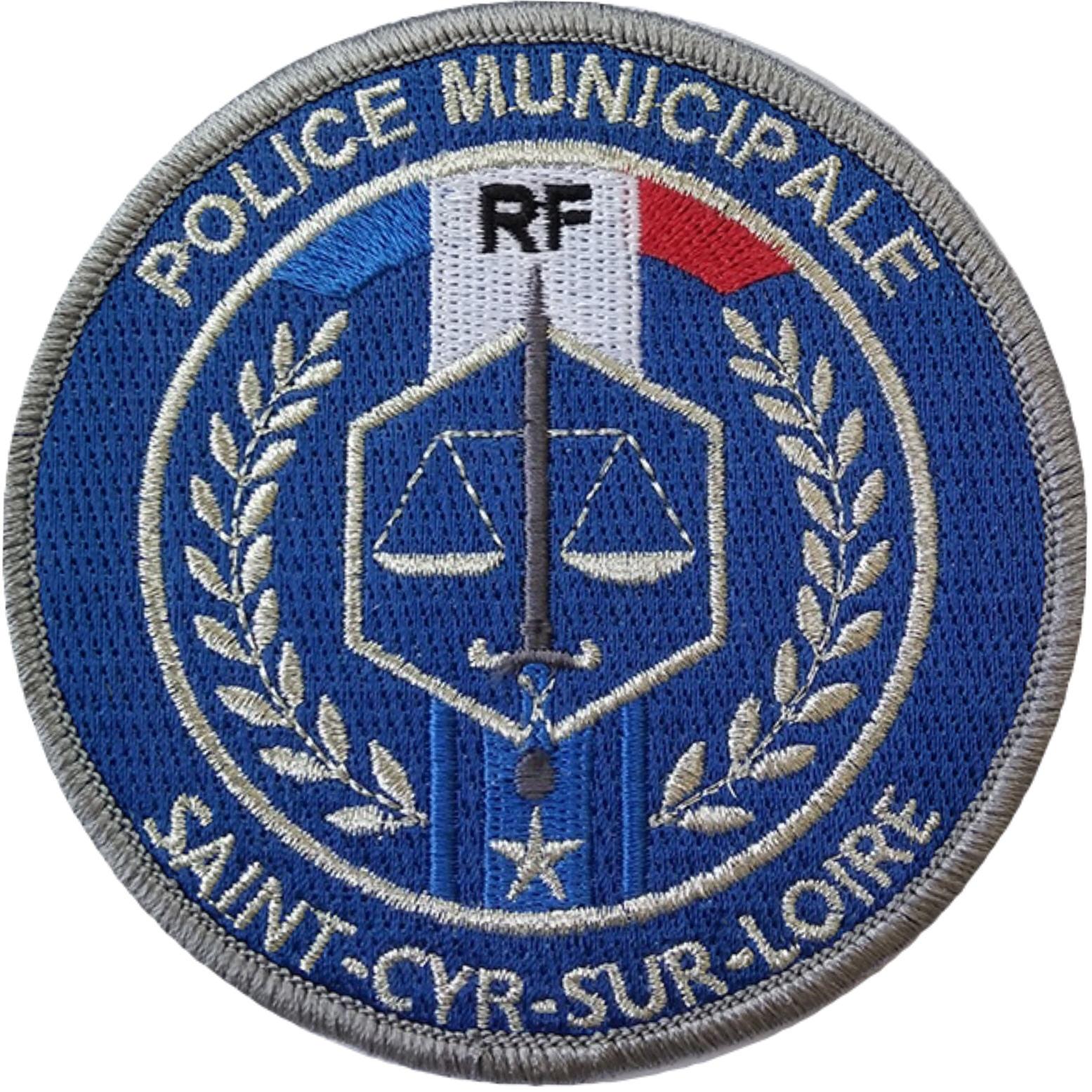 ÉCUSSON POLICE MUNICIPALE SAINT-CYR-SUR-LOIRE