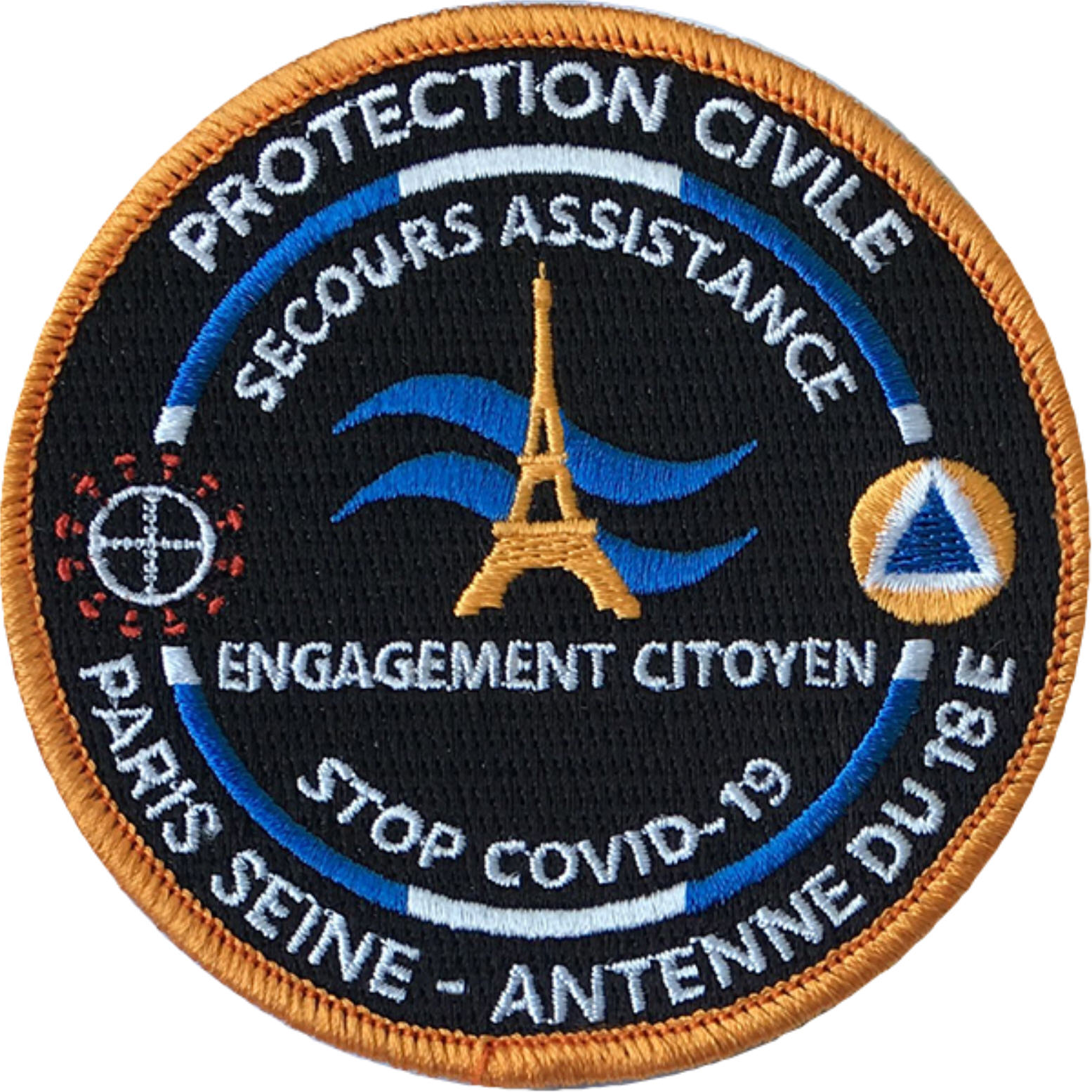 ÉCUSSON PROTECTION CIVILE PARIS SEINE