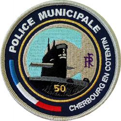 ÉCUSSON POLICE MUNICIPALE CHERBOURG-EN-COTENTIN