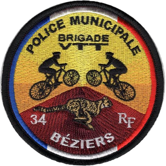 ÉCUSSON POLICE MUNICIPALE BÉZIERS VTT