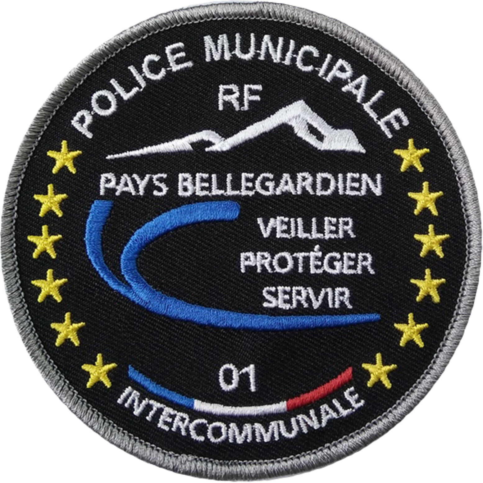 ÉCUSSON POLICE MUNICIPALE INTERCOMMUNALE PAYS BELLEGARDIEN