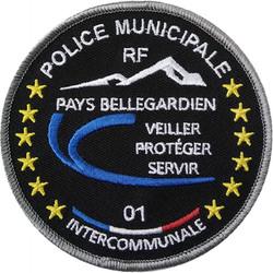 ÉCUSSON POLICE MUNICIPALE INTERCOMMUNALE PAYS BELLEGARDIEN