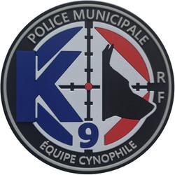 ÉCUSSON POLICE MUNICIPALE ÉQUIPE CYNOPHILE K9