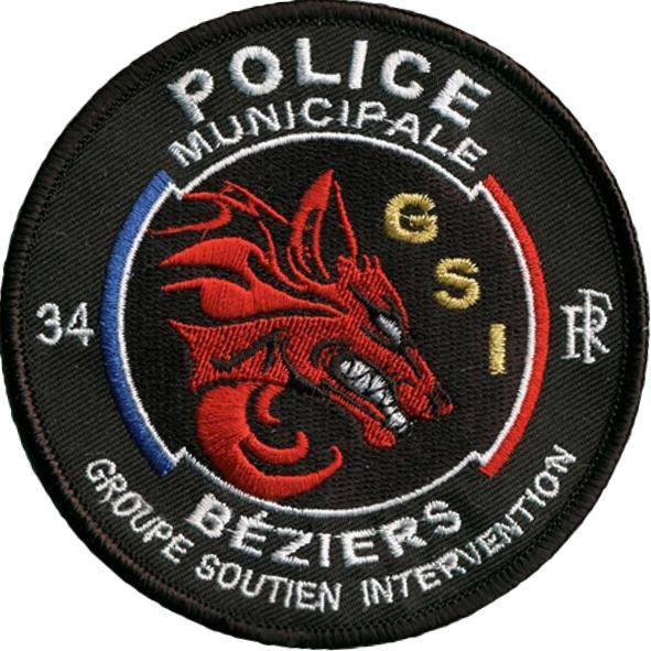ÉCUSSON POLICE MUNICIPALE BÉZIERS GSI