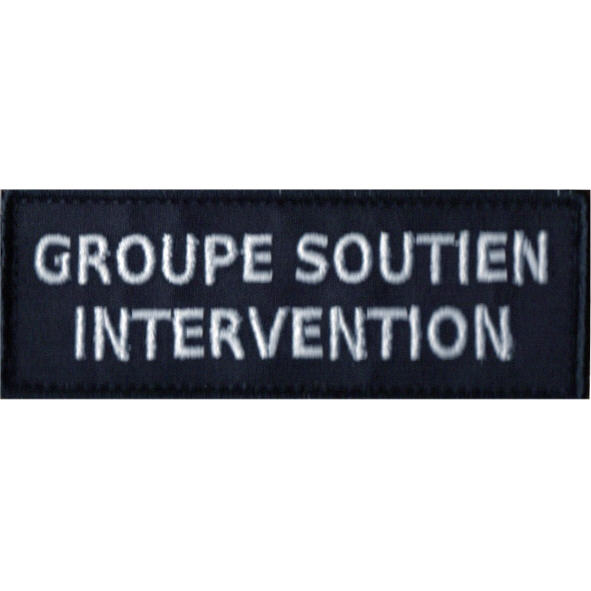 PATCH POLICE MUNICIPALE GROUPE SOUTIEN INTERVENTION