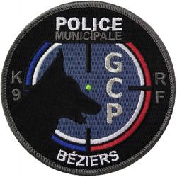 ÉCUSSON POLICE MUNICIPALE BÉZIERS GCP K9