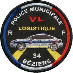 ÉCUSSON POLICE MUNICIPALE BÉZIERS VL