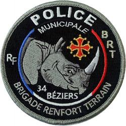 ÉCUSSON POLICE MUNICIPALE BÉZIERS BRT
