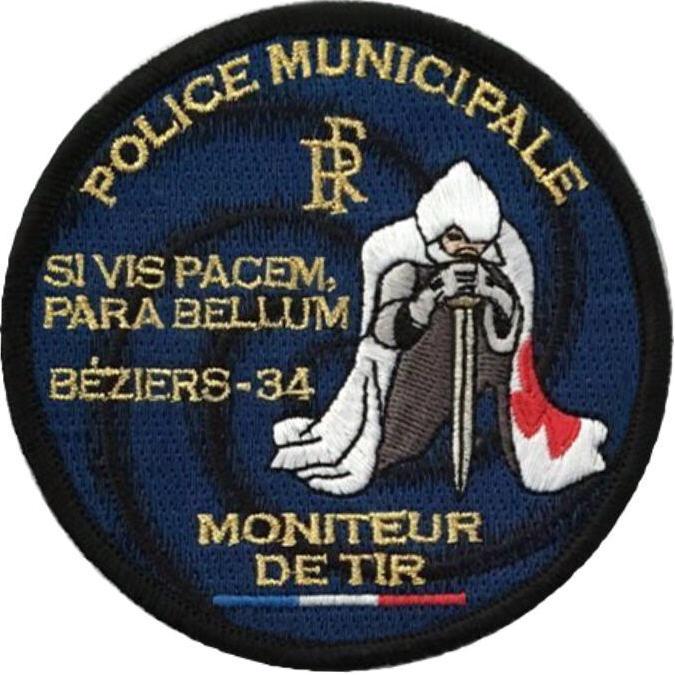 ÉCUSSON POLICE MUNICIPALE BÉZIERS MMA