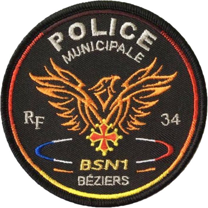 ÉCUSSON POLICE MUNICIPALE BÉZIERS BSN1