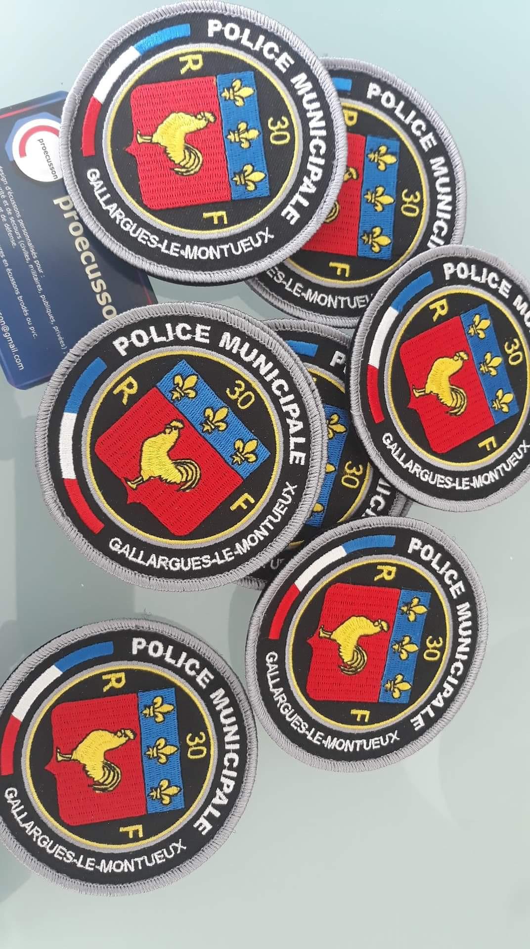 ÉCUSSON POLICE MUNICIPALE GALLARGUES-LE-MONTUEUX