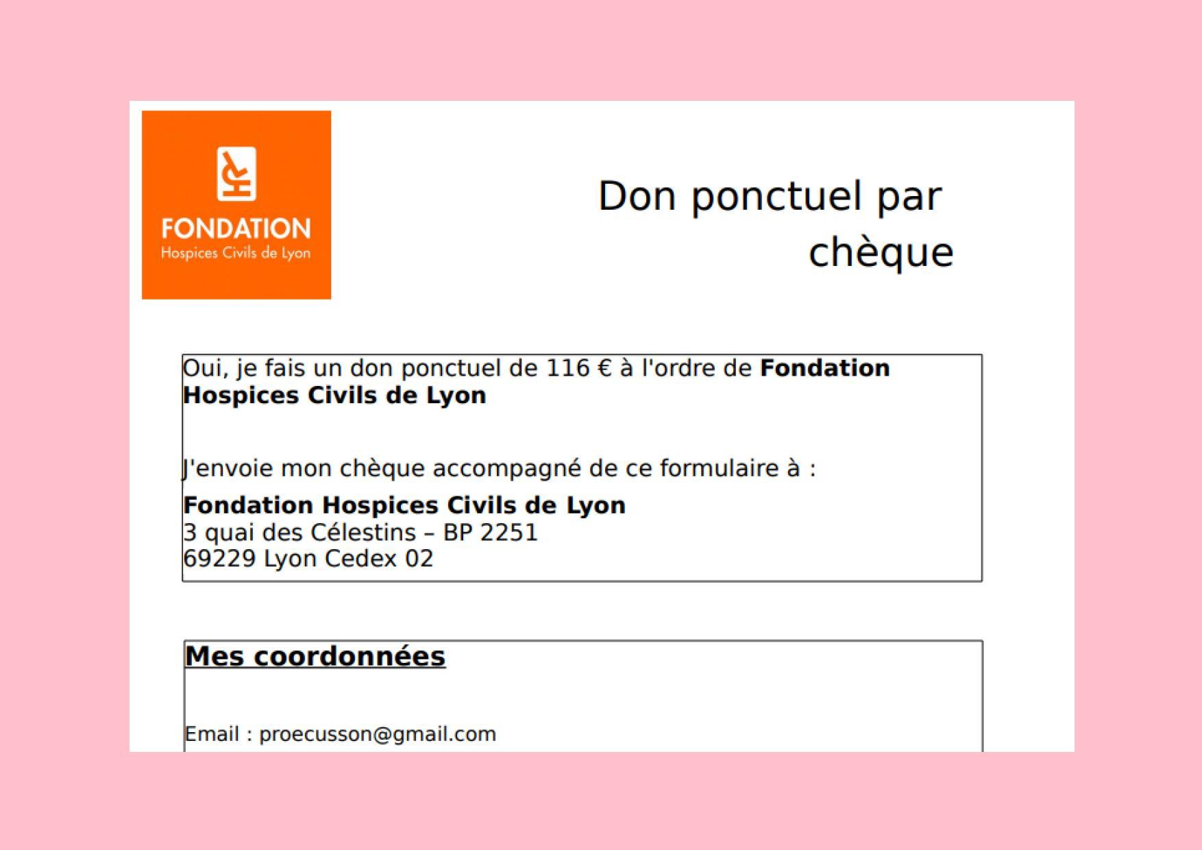 DON FONDATION HCL