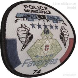 ÉCUSSON POLICE MUNICIPALE FAVERGES