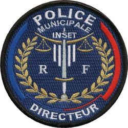 ÉCUSSON POLICE MUNICIPALE DPM DIRECTEUR