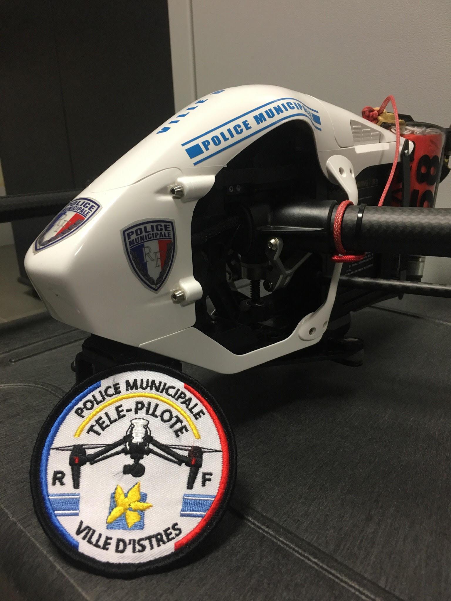 ÉCUSSON POLICE MUNICIPALE TÉLÉ-PILOTE ISTRES