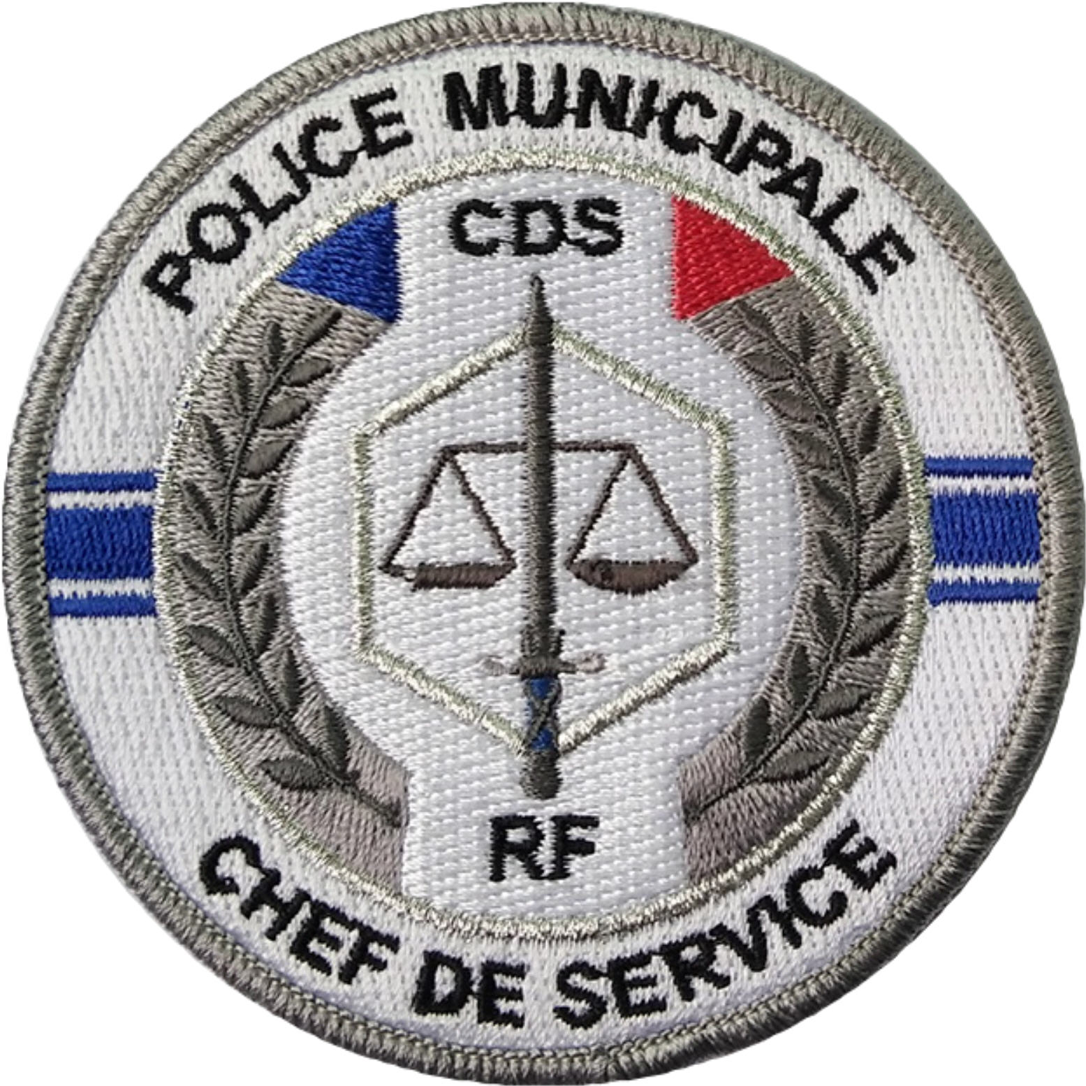 ÉCUSSON POLICE MUNICIPALE CHEF DE SERVICE CDS
