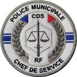 ÉCUSSON POLICE MUNICIPALE CHEF DE SERVICE CDS