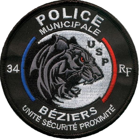 ÉCUSSON POLICE MUNICIPALE BÉZIERS USP