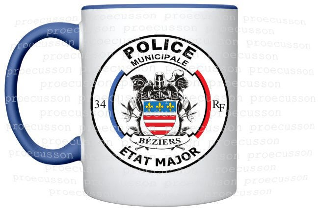 MUG POLICE MUNICIPALE BÉZIERS ÉTAT MAJOR