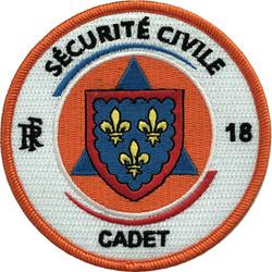 ÉCUSSON SÉCURITÉ CIVILE CADET SDIS 18