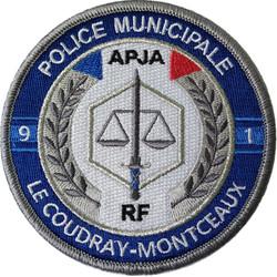 ÉCUSSON POLICE MUNICIPALE LE COUDRAY-MONTCEAUX