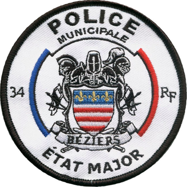 ÉCUSSON POLICE MUNICIPALE BÉZIERS ÉTAT MAJOR