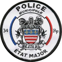 ÉCUSSON POLICE MUNICIPALE BÉZIERS ÉTAT MAJOR