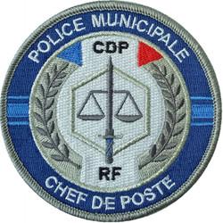 ÉCUSSON POLICE MUNICIPALE CHEF DE POSTE CDP