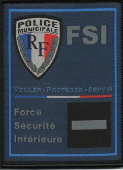 ÉCUSSON POLICE MUNICIPALE FORCE SÉCURITÉ INTÉRIEURE FSI