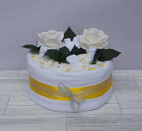 1 Tier Nappy Cake -White
