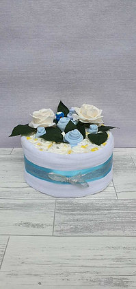 1 Tier Nappy Cake - Blue