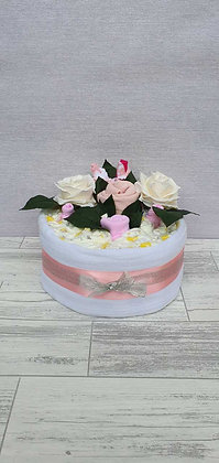 1 Tier Nappy Cake - Pink