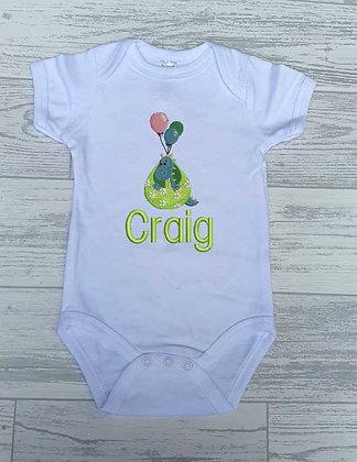 Baby Dinosaur Baby Vest